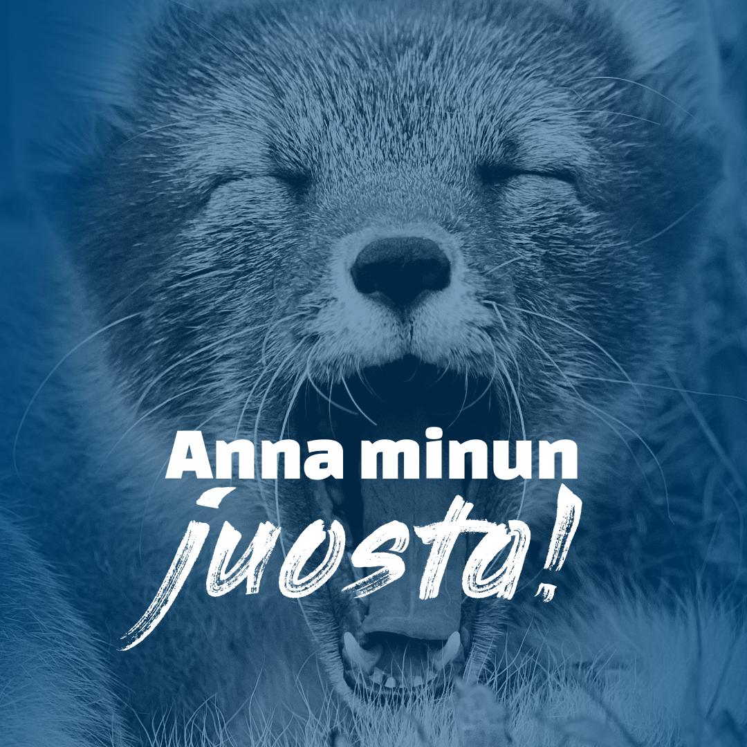 Sinisävyinen kuva napaketusta, joka huutaa: Anna minun juosta! Yksikään eläin ei ole häkkieläin! Allekirjoita vetoomus.